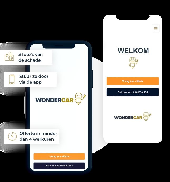 De Wondercar app voor een snelle offerte