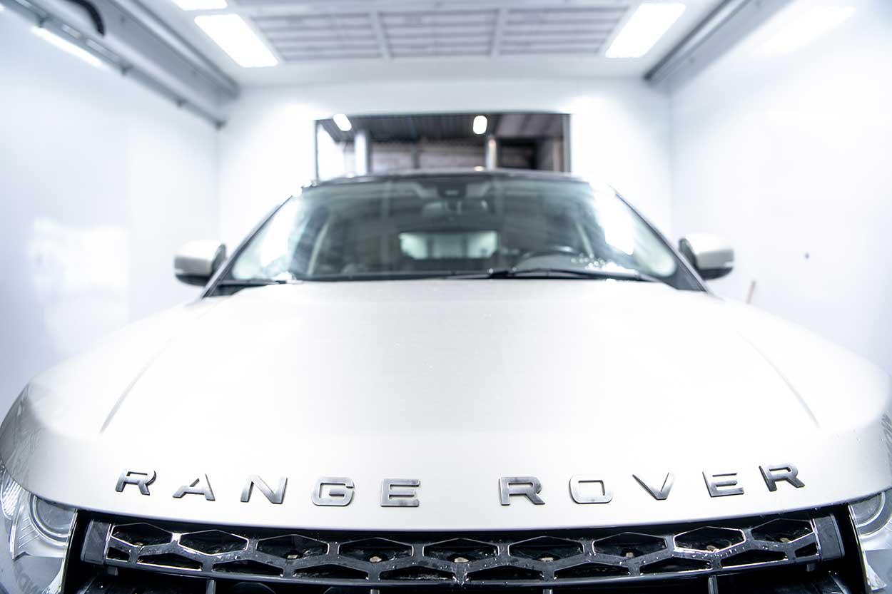 Capot d'un Range Rover