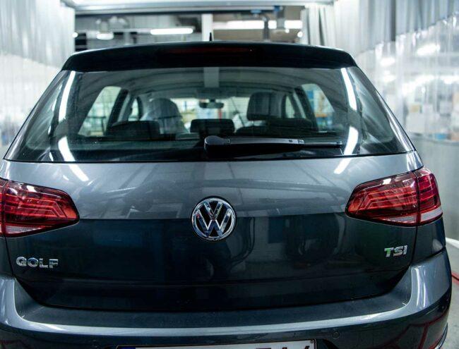 Kofferbak van een Volkswagen Golf