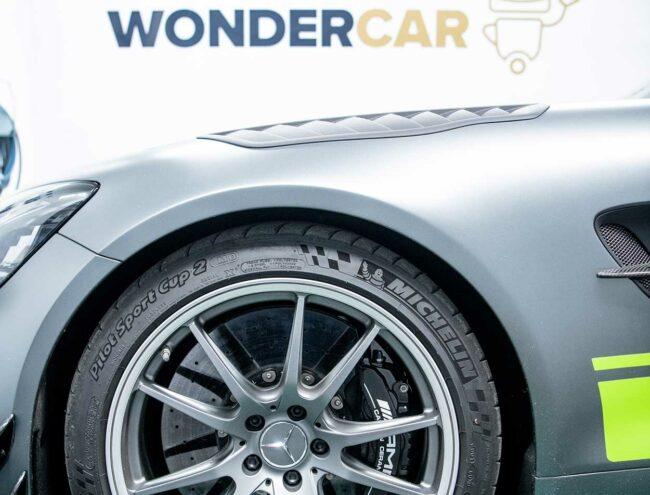 Velg van een Mercedes AMG