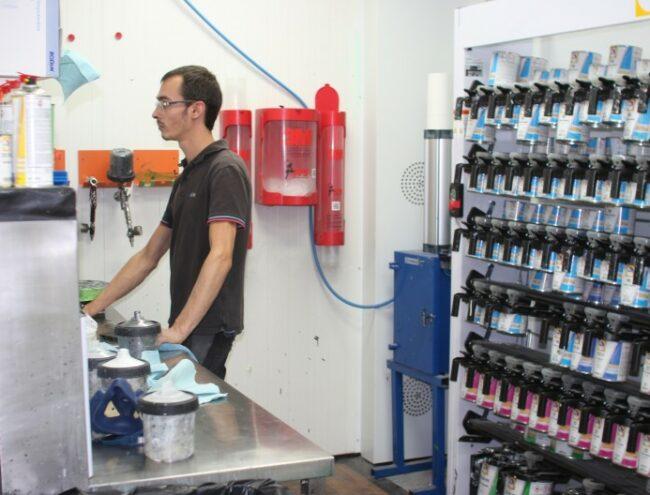 Laboratoire de peinture carrosserie