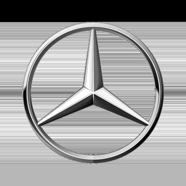 Logo van het automerk Mercedes