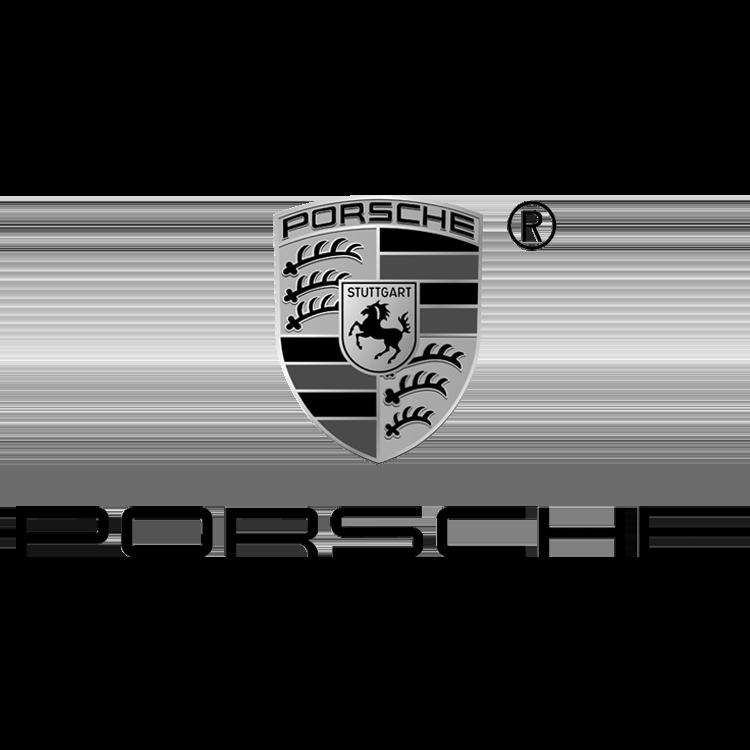 Logo van het automerk Porsche